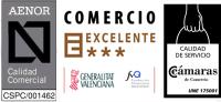 Empresa certificada AENOR Calidad Comercial CSPC/001462
