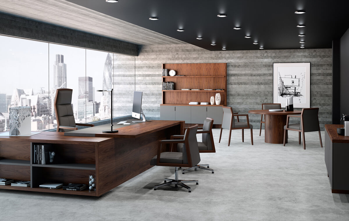 Muebles de direcci n la oficina moderna for Plantas de oficinas modernas