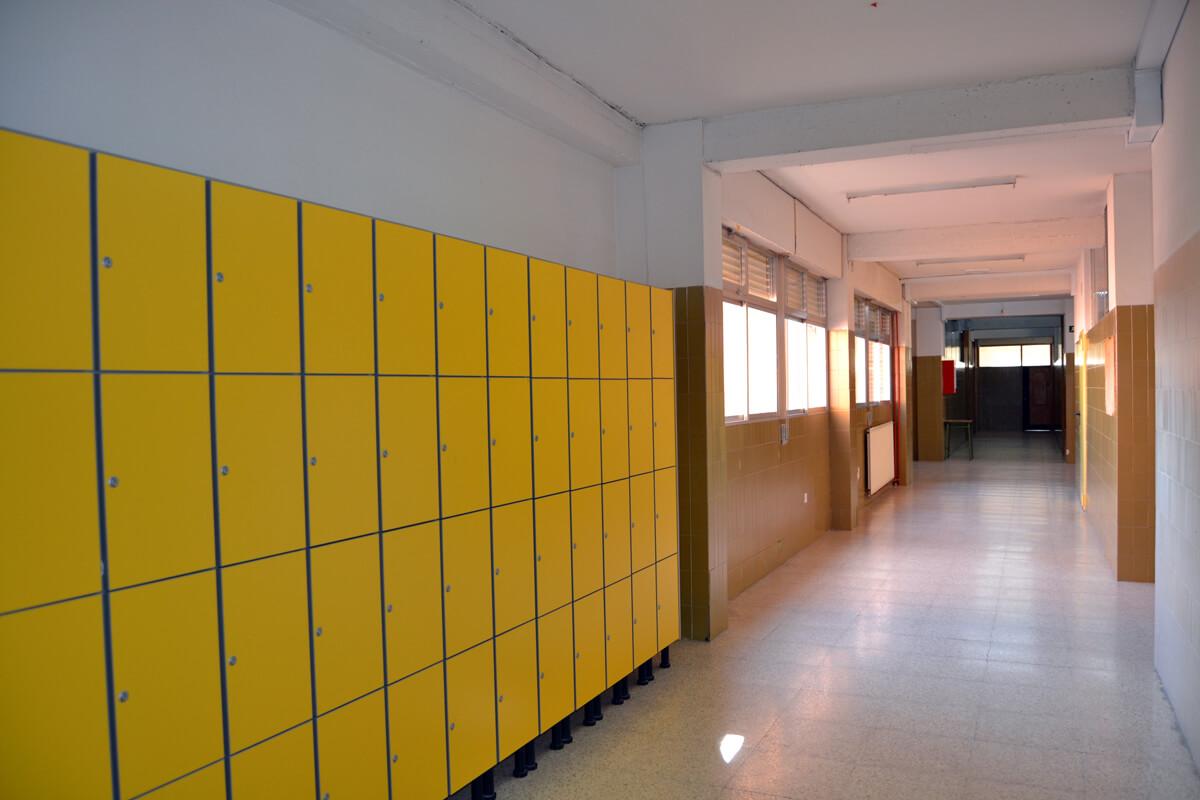 taquillas de un instituto