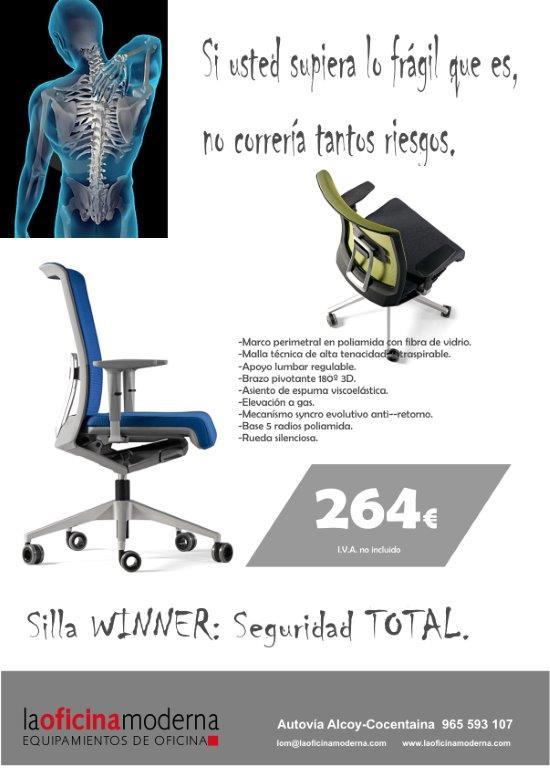 Seguridad total con la silla Winner, ergonoma eficiente