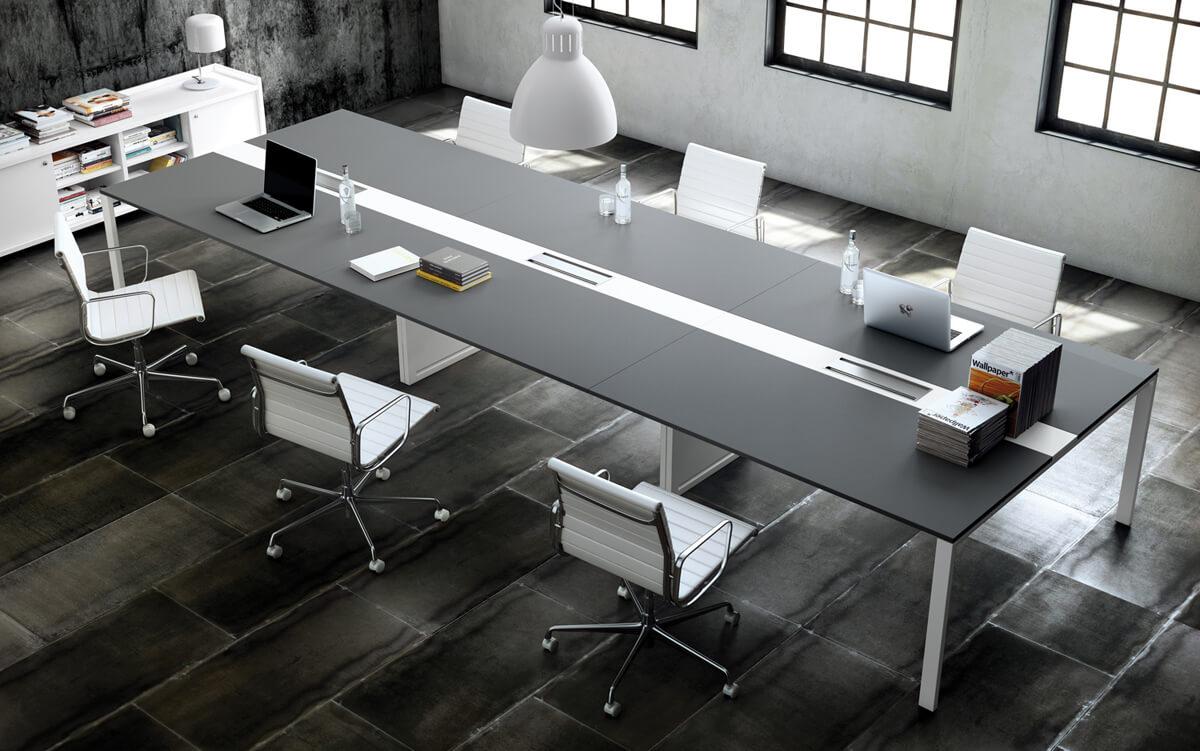 Mueble operativo la oficina moderna for Mesas de oficina de diseno